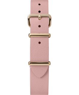 Jednowarstwowy skórzany pasek przewlekany 16 mm w złotym kolorze Różowy large