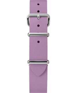 Cinturino slip-thru in pelle strato singolo da 16mm silver Viola large