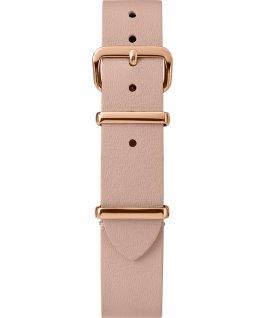 Jednowarstwowy skórzany pasek przewlekany 16 mm w kolorze różowego złota Jasnobrązowy large