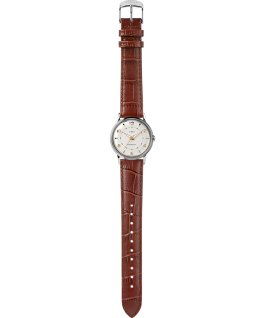 Timex X Todd Snyder Welton Bi-Metal 34mm Leather Strap Watch  large