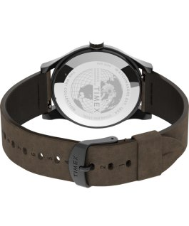 MK1 Steel 40 mm con cinturino in pelle Canna di fucile/Marrone large