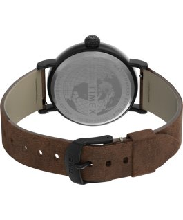 Standard 40mm Leather Strap Watch Black/Brown/Black large