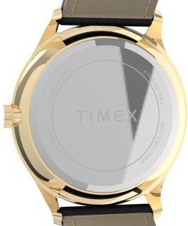 Reloj Easy Reader moderno de 40mm con correa de piel Dorado/Negro/Blanco large