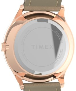 Montre Modern Easy Reader 32 mm Bracelet en cuir Doré rose/Brun/Blanc large