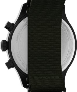 Expedition Field Chronograph 43mm Fabric Strap Watch Black/Green large