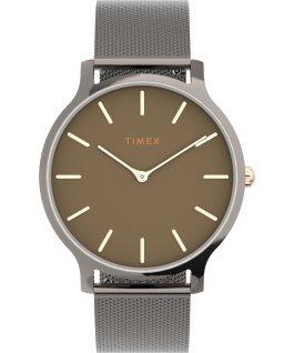 Zegarek Transcend 38 mm z siatkową bransoletą ze stali  Stalowoszary/Czarny large