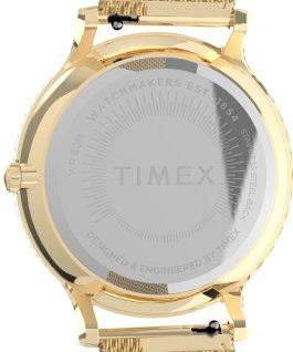 Montre Transcend 38mm Bracelet à milanaise en acier inoxydable Doré/Blanc large