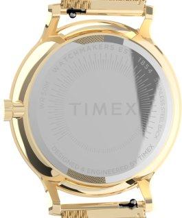 Montre Transcend Multifonction 38mm Bracelet à milanaise en acier inoxydable Doré/Blanc large