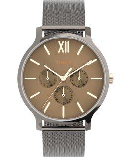 Zegarek Transcend Multifunction 38 mm z siatkową bransoletą ze stali Stalowoszary/Czarny large