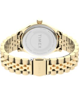 Reloj de acero inoxidable Waterbury Classic de 34 mm Dorado/Blanco large