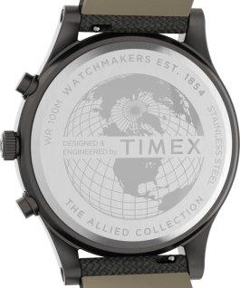 Montre chronomètre LT Allied 42mm Bracelet en tissu Argenté/Gris large