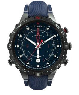 Allied 45mm Fabric Strap Watch Gunmetal/Blue large