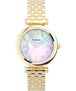 Zegarek Parisienne 28 mm ze stalową bransoletą Złoty/Perłowy large