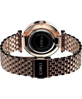Zegarek Parisienne 35 mm ze stalową bransoletą Różowe złoto/Perłowy large