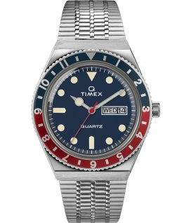 Q Timex Reissue 38mm Stainless Steel Bracelet Watch Stainless-Steel/Blue large