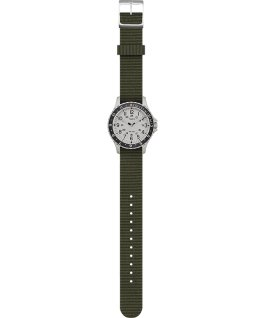 Navi Ocean 38mm Reversible Fabric Strap Watch Stainless-Steel/Green/Blue large