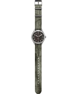 Waterbury United 38mm Fabric Strap Watch Black/Green large
