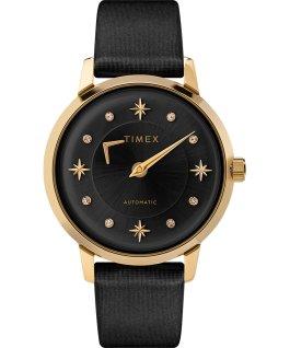 Reloj automático Celestial Opulence de 38mm con correa texturizada Dorado/negro large