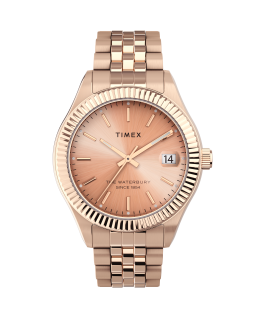 Montre Waterbury Legacy 34 mm Bracelet en acier inoxydable Or rose large