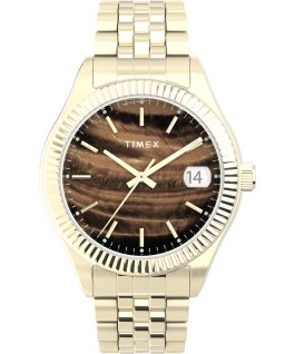 Waterbury Legacy 34mm Stainless Steel Bracelet Watch Gold-Tone/Brown large