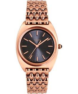 Zegarek Milano 33 mm ze stalową bransoletą Różowe złoto/Czarny large