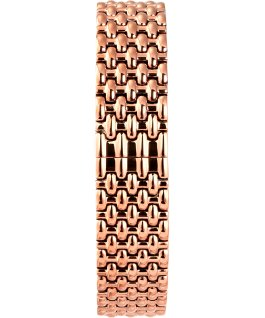 Montre Milano 33mm Bracelet en acier inoxydable Or rose/Noir large