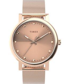 Zegarek Originals 38 mm z siatkową bransoletą ze stali nierdzewnej Różowe złoto large