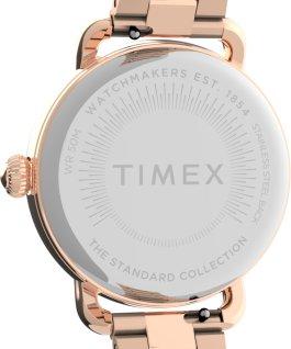 Montre Standard 34mm Bracelet en acier inoxydable Or rose/Argenté large