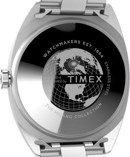 Zegarek Milano XL 38 mm ze stalową bransoletą Stal nierdzewna/Srebrny large