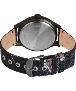 Timex x Mossy Oak Expedition Scout 43mm Fabric Strap Watch Black large