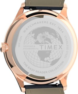 Montre Easy Reader Gen1 40 mm Bracelet en cuir Rose doré/Bleu large