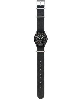 Zegarek MK1 40 mm z dekatyzowanym paskiem skórzanym Czarny large