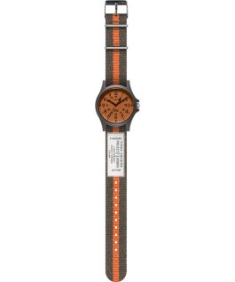 Acadia 40mm Fabric Strap Watch Green/White/Orange large