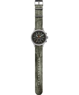 Allied Chronograph 42mm Stonewashed Fabric Strap Watch Silver-Tone/Black large