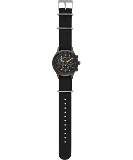 Archive Allied Chronograph 42mm Fabric Strap Watch Black/Black/Black large
