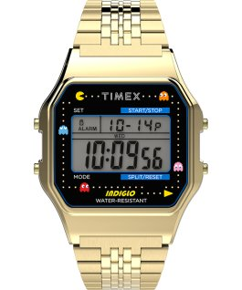 Timex x Pac Man 34mm Stainless Steel Bracelet Watch Gold-Tone large