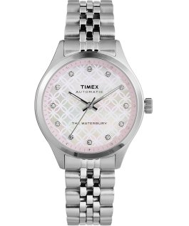 Waterbury Traditional Automatic 35mm Stainless Steel Bracelet Watch Stainless-Steel/Mother-of-Pearl large