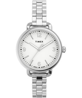 Timex Standard Demi 32mm Stainless Steel Bracelet Watch Silver-Tone/Stainless-Steel/White large