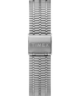 Reedición del reloj Q Timex de 38 mm con correa metálica de acero inoxidable Stainless-Steel/Black/Red large