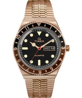 Q Timex Reissue 38mm Stainless Steel Bracelet Watch Rose-Gold-Tone/Black large