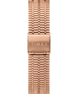 Montre Q Timex Reissue 38 mm Bracelet en acier inoxydable Rose-Gold-Tone/Black large
