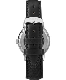 Marlin® Automatic x Peanuts 70th Anniversary 40mm Leather Strap Watch Stainless-Steel/Black/Markers-(Full) large