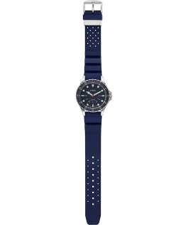 Navi Depth mit Silikonarmband, 38 mm Blue/Blue large