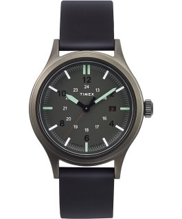 Allied 40mm Silicone Strap Watch for Archive Gunmetal/Black/Green large