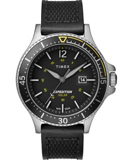 Expedition Ranger Solar 43 mm con cinturino in pelle Silver/Nero large