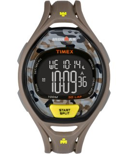 IRONMAN Sleek 50 Full-Size 42mm Resin Strap Watch Gray large