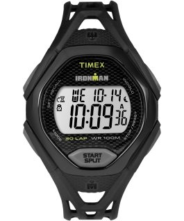 IRONMAN Sleek 30 Full-Size 42mm Resin Strap Watch Black large
