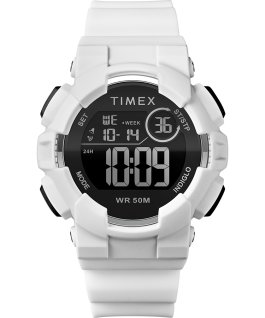 Mako DGTL 44MM Resin Strap Digital Watch White/Silver-Tone large