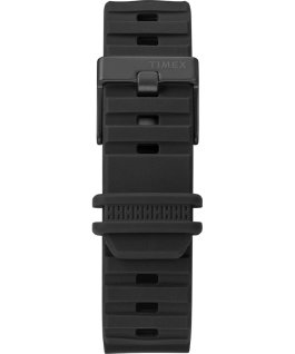 Montre BST 47 mm Bracelet en silicone Noir large