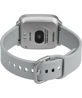 iConnect by Timex Active 37mm Resin Strap Smartwatch Silver-Tone large